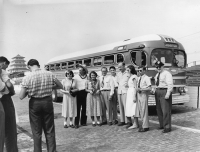 1950 AFS bus trip at Indiana Raceway