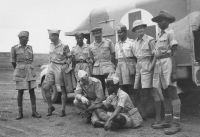 AFS drivers with members of the Indian army, Burma,1943