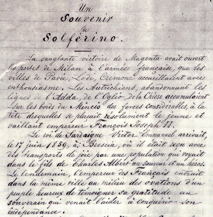 First page of the manuscript