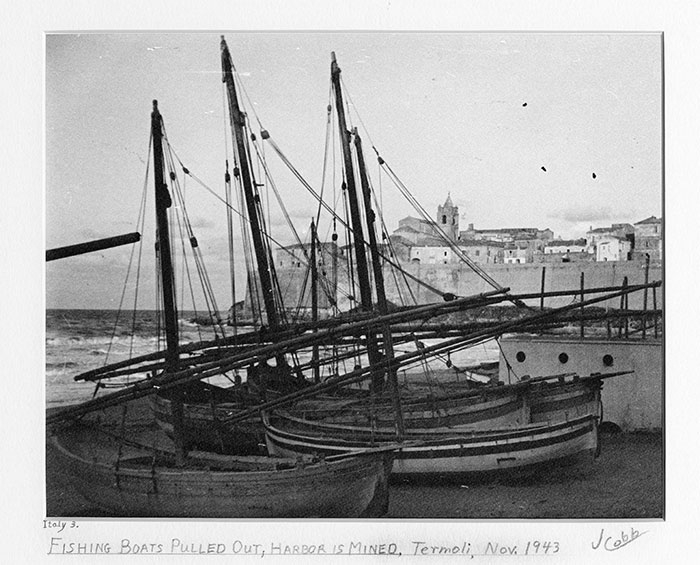 Fishing Boats Pulled Out - Mined Harbor