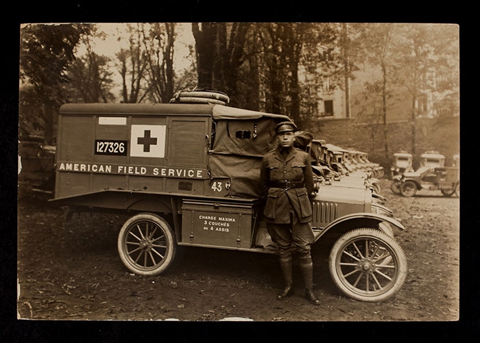 American Field Service Ambulance 43 with driver