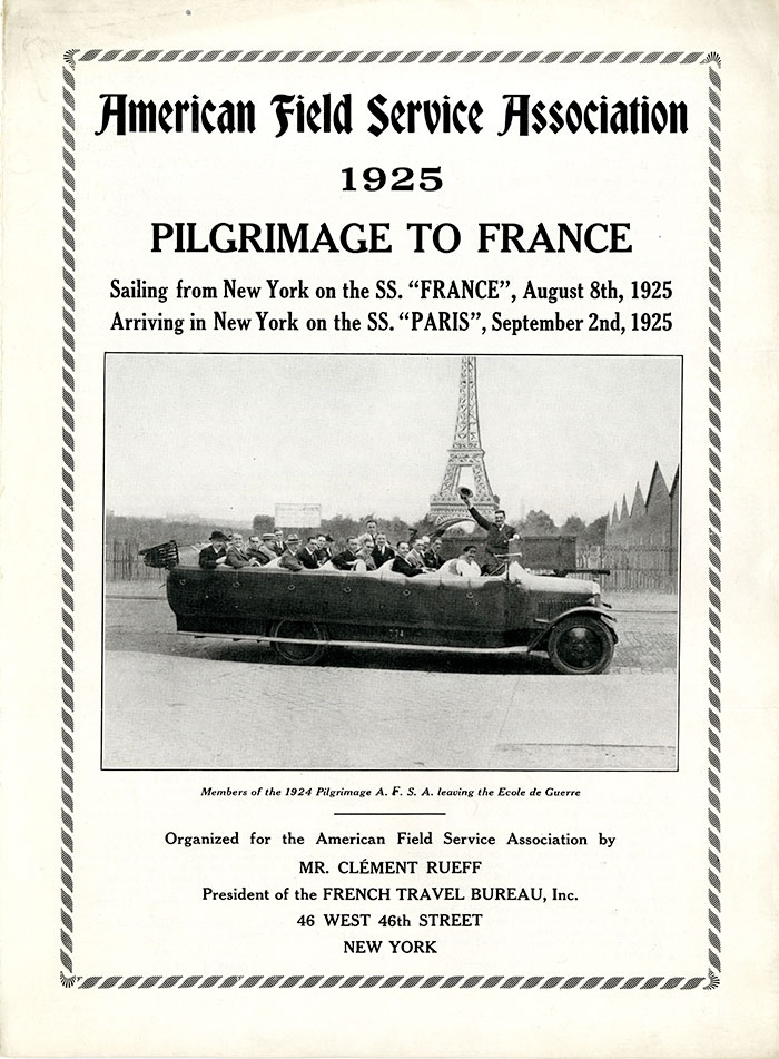 1925 Brochure Pilgrimage to France