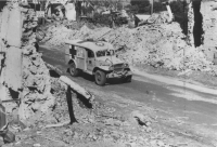 AFS ambulance at Anzio, Italy