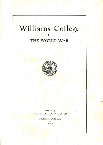 Williams College in the World War