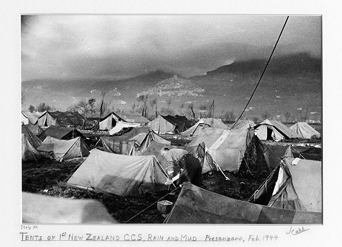 Tents of the 1st New Zealand CCS in the Mud