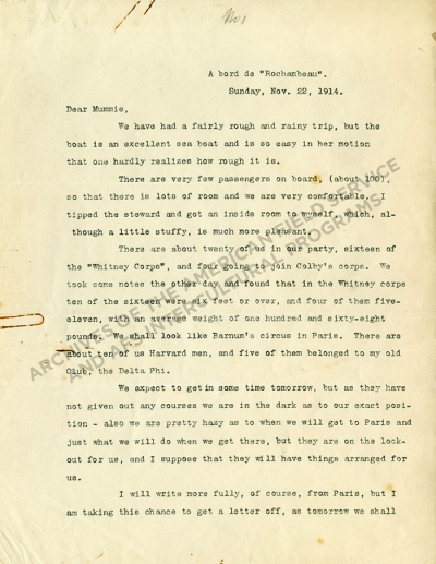 Number 1, Regis H. Post letter to his mother
