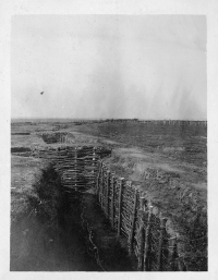 View of trenches